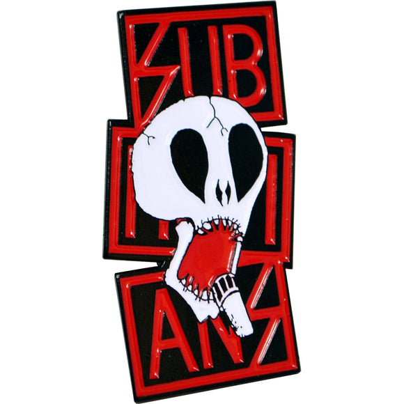 Subhumans Red Skull Enamel Pin