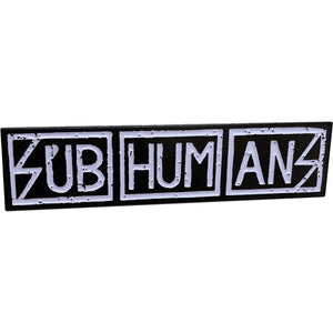 Subhumans Text Logo Enamel Pin