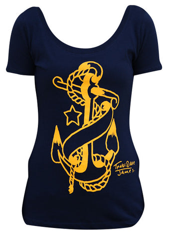 Anchor Scoop Neck Tee