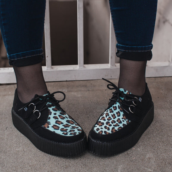 Black & Mint Leopard Viva Mondo Creeper