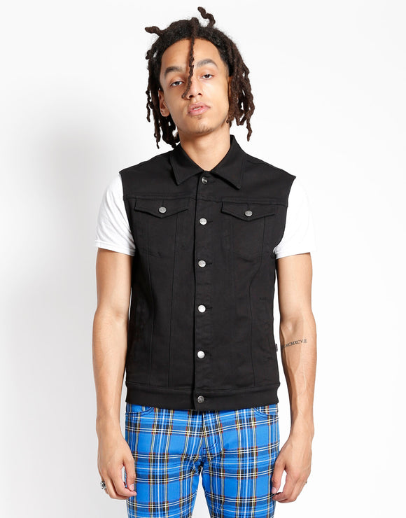 Black Denim Vaudeville Vest
