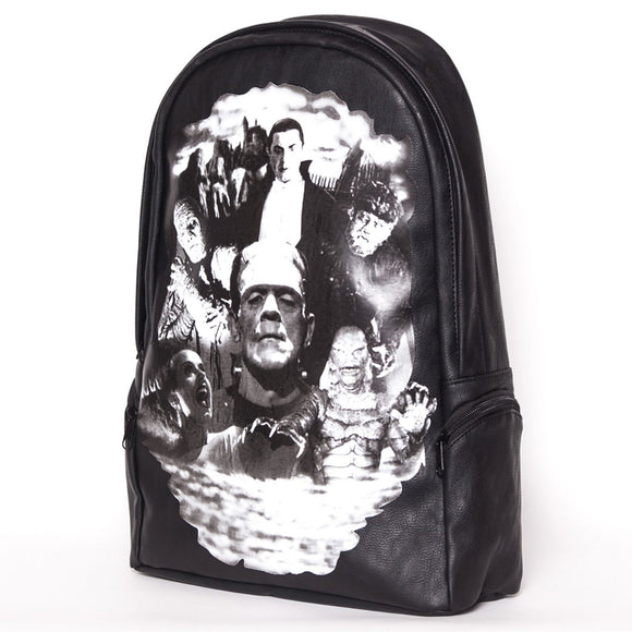 Horror Monster Collage Backpack
