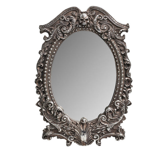 Ornate Skull Mirror