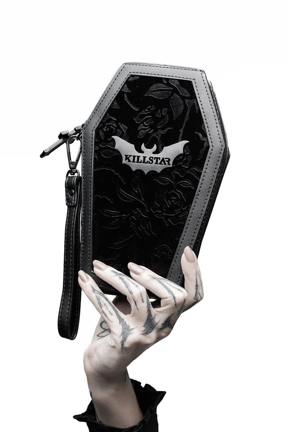 Vampires Kiss Black Velvet Coffin Wallet