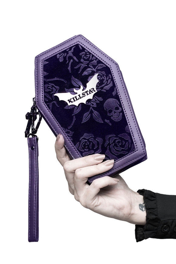 Vampires Kiss Plum Velvet Coffin Wallet