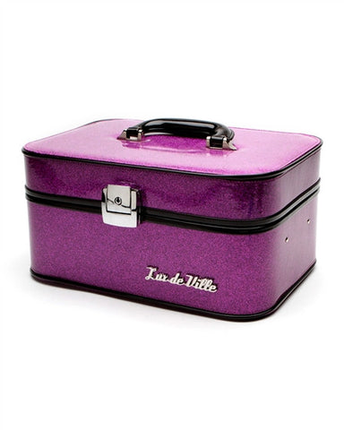 Lux De Ville Vanity Case Electric Purple Sparkle