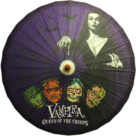 Vampira Queen of Creeps Parasol