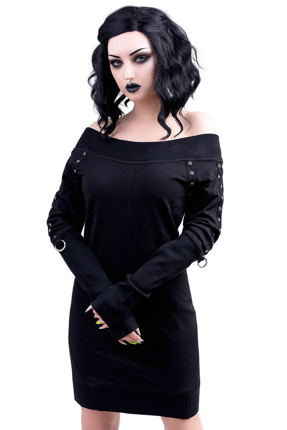 Wicked Riffs Knit Sweater Dress