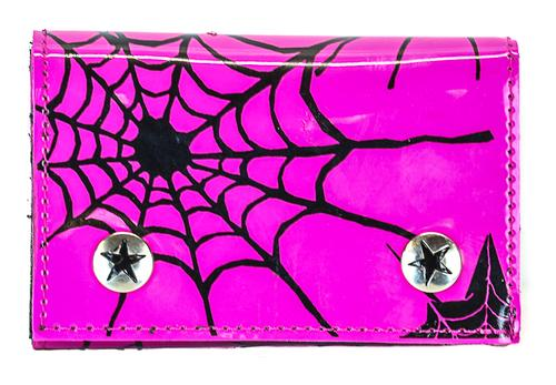 Pink Spider Web Chain Wallet