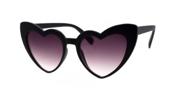Black Matte Heart Sunglasses