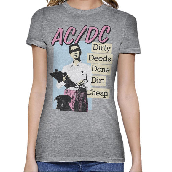 AC/DC Dirty Deeds Fitted Shirt