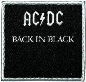 AC/DC Back in Black Patch - DeadRockers