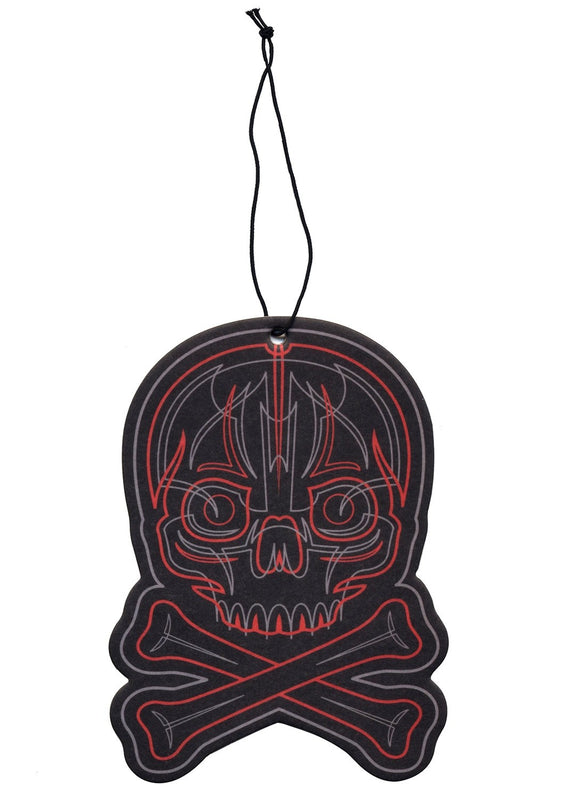 Pinstriped Skull Air Freshener