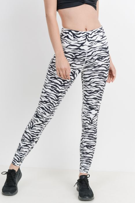 Zebra Babe Active-wear Leggings