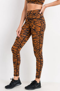 Tiger Print Active-wear Leggings