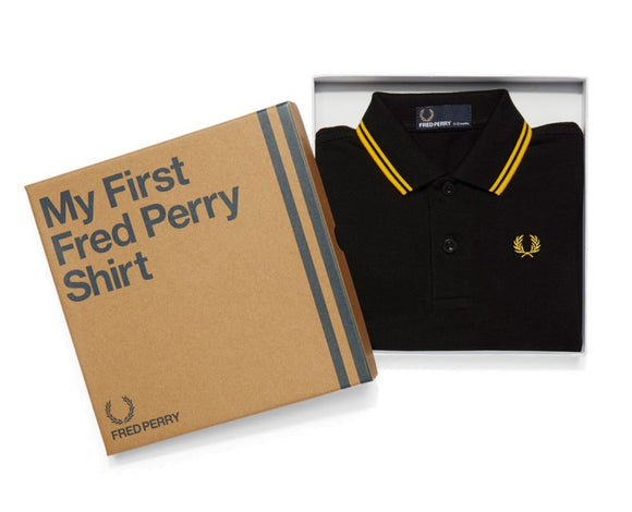 My First Fred Perry Shirt Black/Yellow