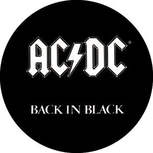 AC/DC Back in Black Pin - DeadRockers