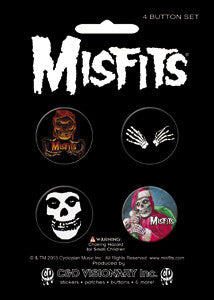 Misfits Button Pack - DeadRockers