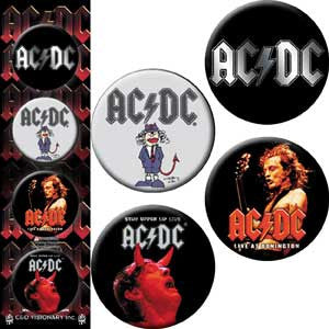 AC/DC #3 Button Pack - DeadRockers