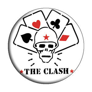 The Clash 'Skull & Cards' Pin