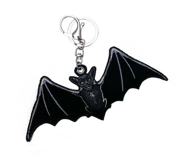 Black Bat Plush Key Chain