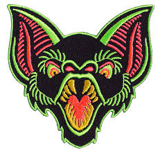 Bat Trouble Neon Enamel Pin