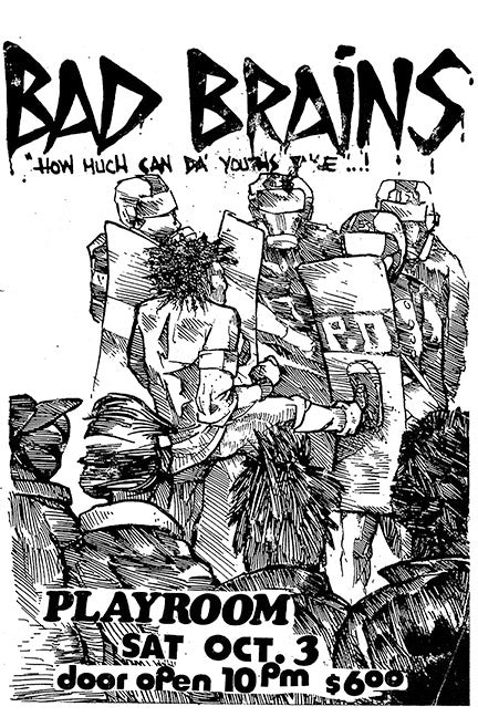 Bad Brains Show Flier Poster