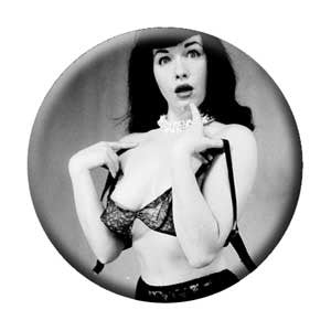 Bettie Page Surprised Pin - DeadRockers