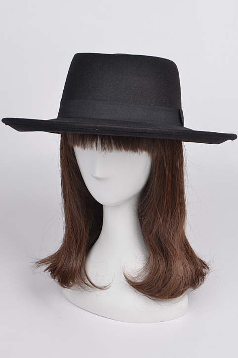 Black Bow Brim Hat