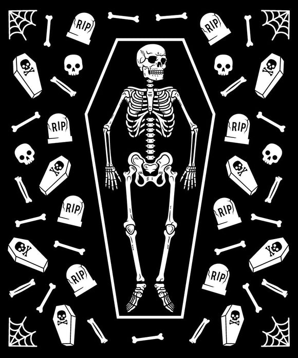 Skeleton Grave Blanket