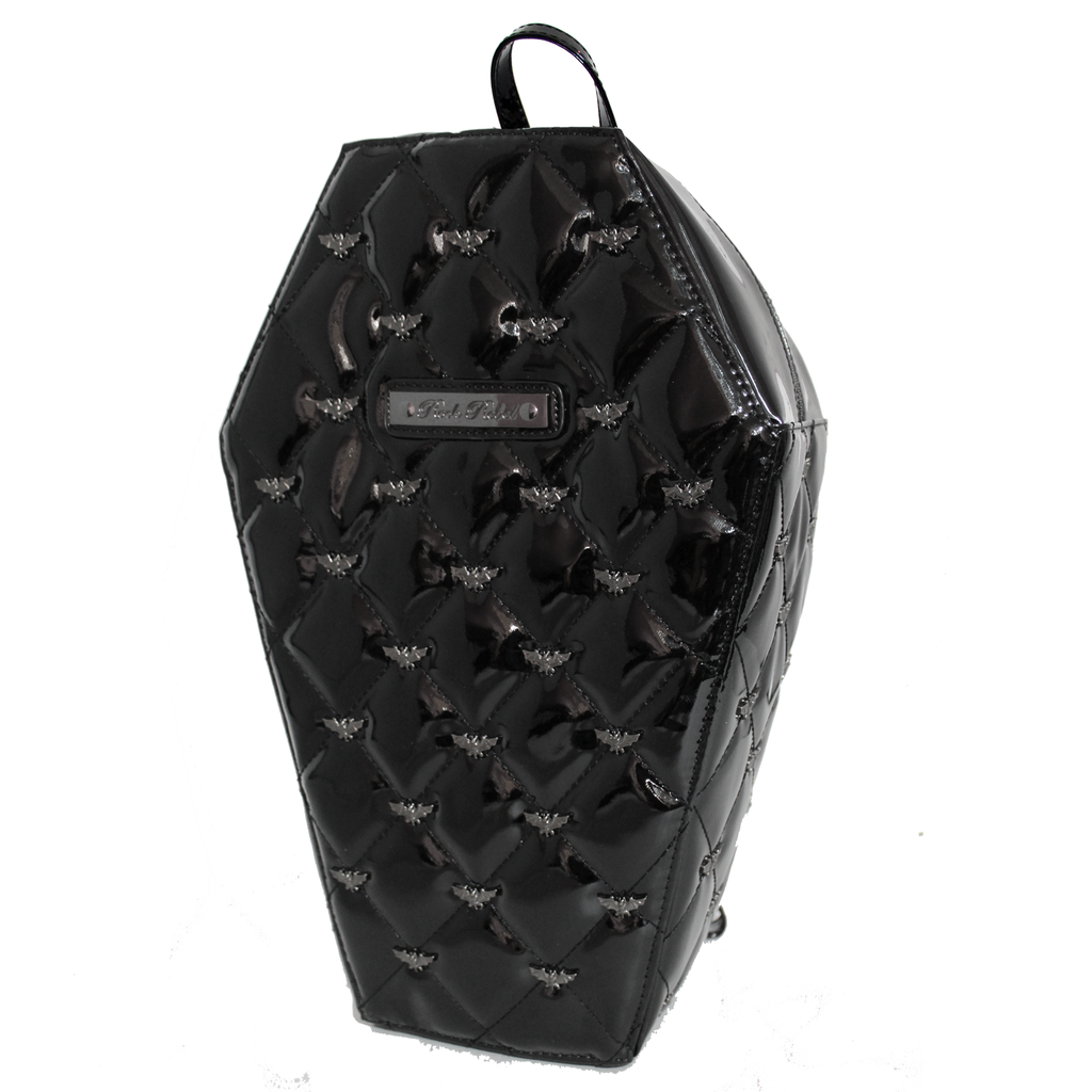 Black Coffin Quilted Backpack