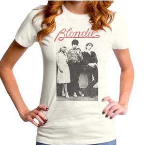 Blondie Band w/ Red Logo Fitted Tee