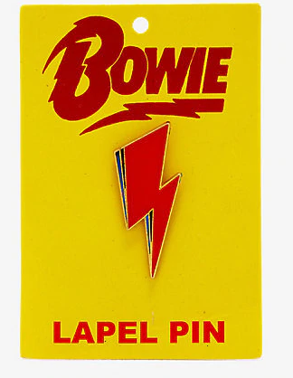 Bowie Bolt Lapel Pin