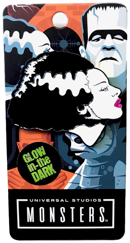 Bride of Frankenstein Glow in the Dark Enamel Pin - DeadRockers