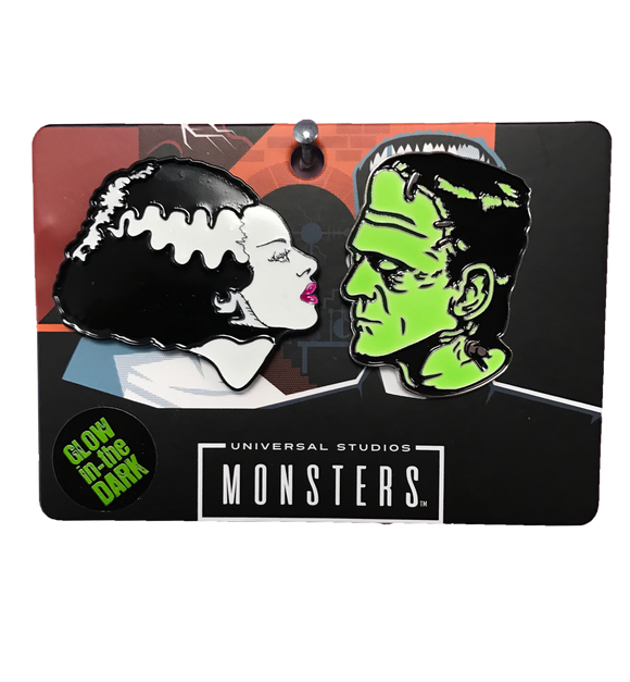 Bride & Frankenstein Pin Set - DeadRockers