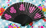 Candy Hearts Paper Fan