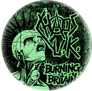 Chaos UK Burning Britain Pin - DeadRockers