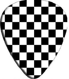 Checkered Ska Guitar Pick