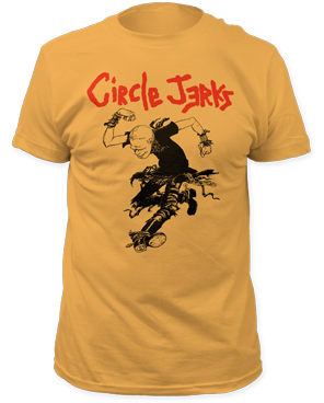 Circle Jerks Yellow Skank Man Band Shirt