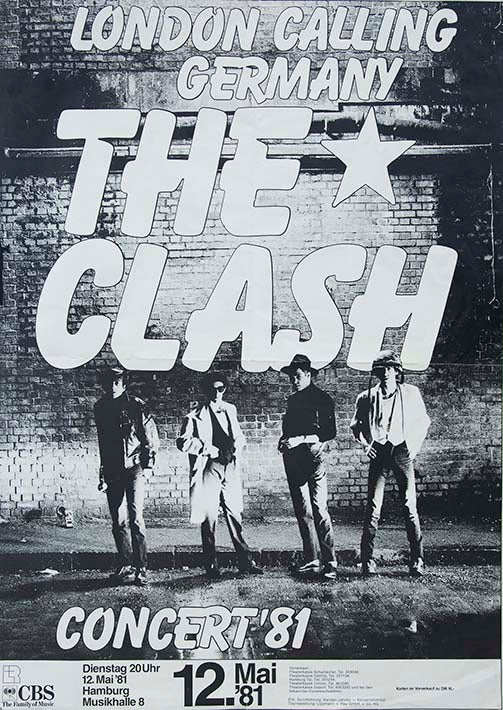 The Clash London Calling Flier Fine Art Print