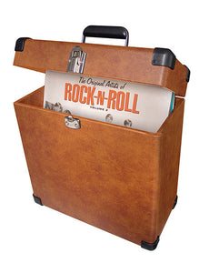 LP Record Carrier Case - Tan - DeadRockers