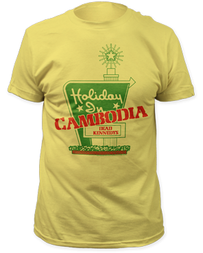 Dead Kennedys Yellow Holiday in Cambodia Band Shirt