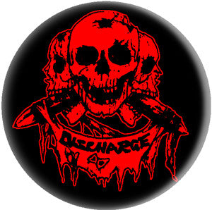 Discharge 'Skulls' Pin - DeadRockers