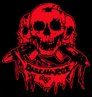 Discharge Skulls Back Patch - DeadRockers