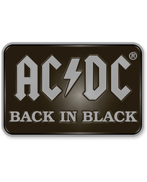 AC/DC Back in Black Enamel Pin