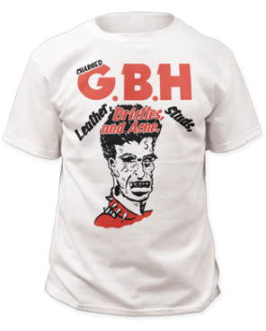 GBH Leather, Bristles, Studs, & Acne Band Tee