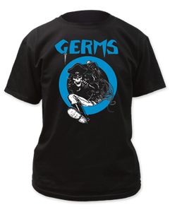 Germs Leather Skeleton Band Tee
