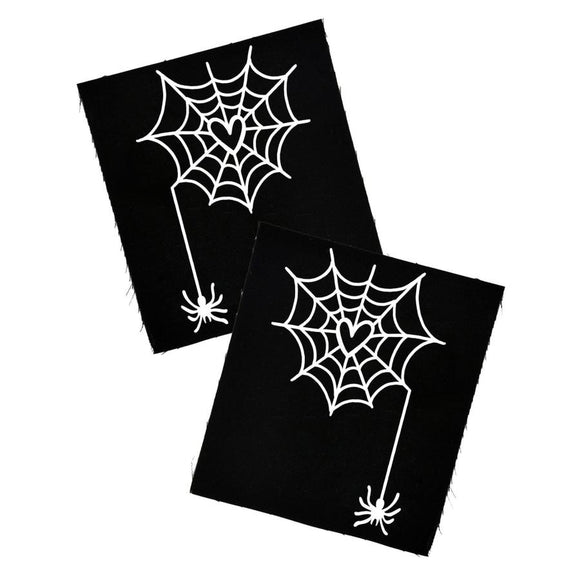 Heart Spider Web Cloth Patch Set