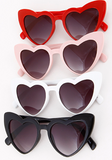 Classic White Heart Sunglasses