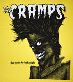 Cramps Bad Music Shirt Yellow